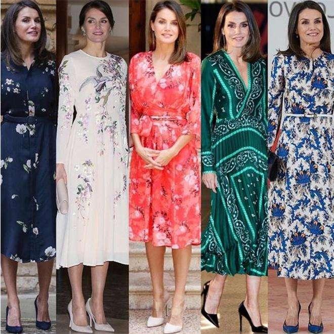 Королева Летисия предпочитает платья с цветочным принтом