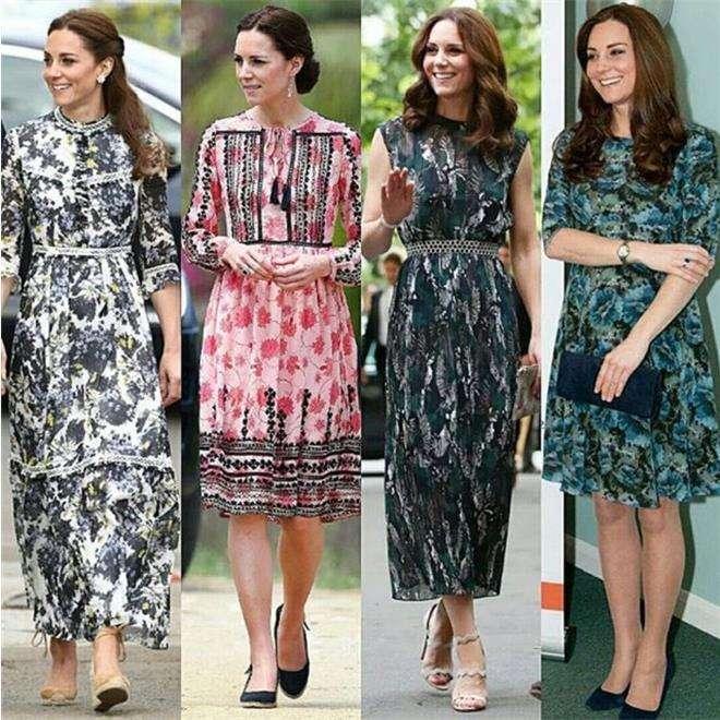 Кейт Миддлтон предпочитает платья с цветочным принтом